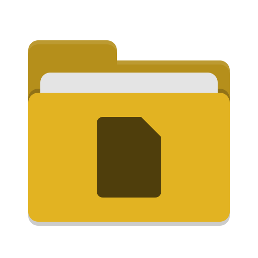 Folder yellow documents icon