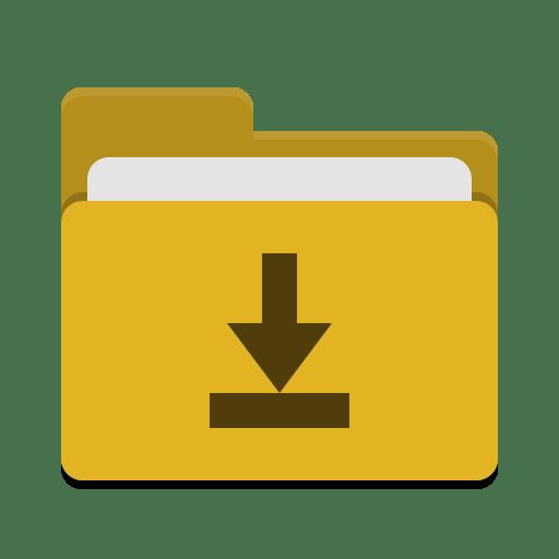 Folder yellow download icon