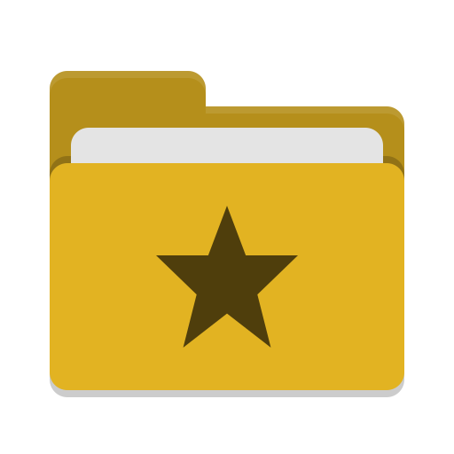 Folder yellow favorites icon