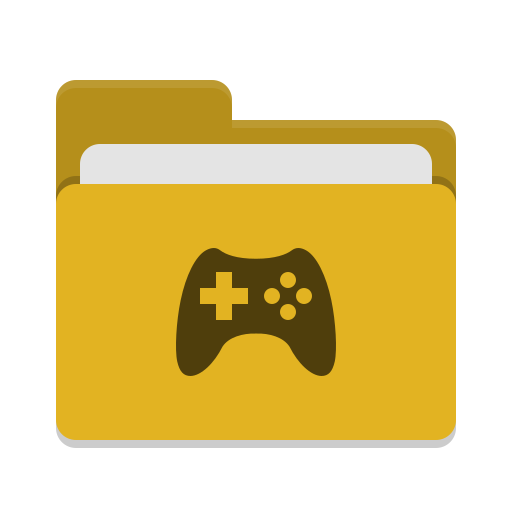Folder yellow games icon