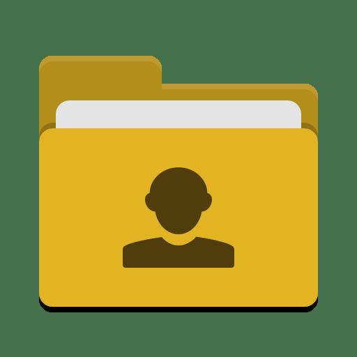 Folder-yellow-image-people icon