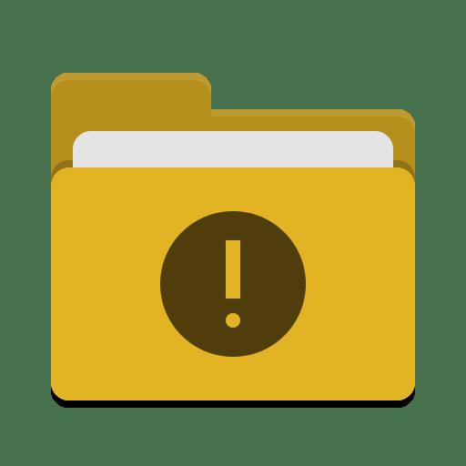Folder-yellow-important icon