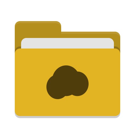 Folder yellow mail cloud icon