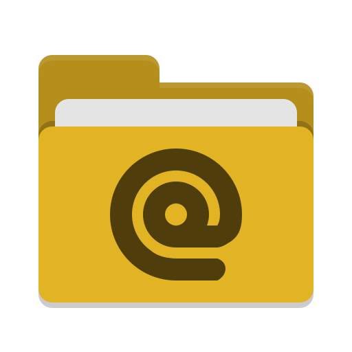 Folder yellow mail icon