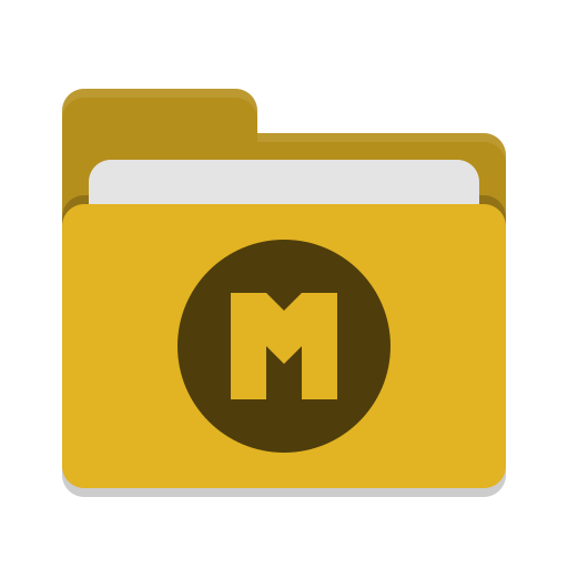Folder-yellow-mega icon
