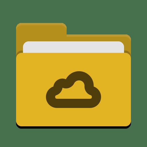 Folder-yellow-meocloud icon