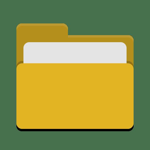 Folder-yellow-open icon