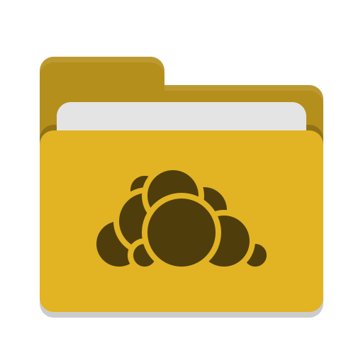 Folder yellow owncloud icon