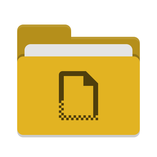 Folder-yellow-templates icon