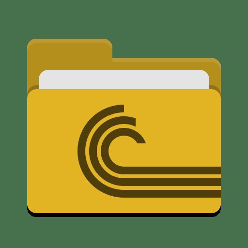 Folder yellow torrent icon