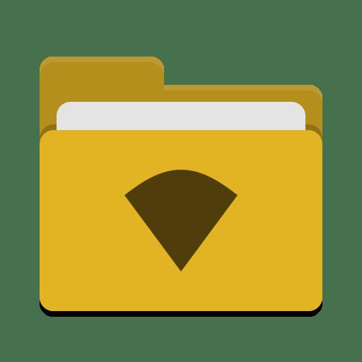 Folder-yellow-wifi icon