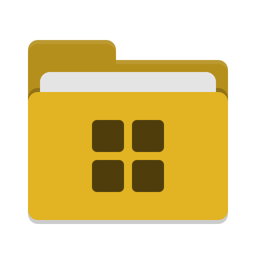 Folder yellow wine icon