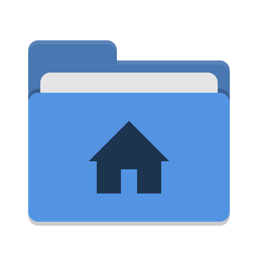 User blue home icon