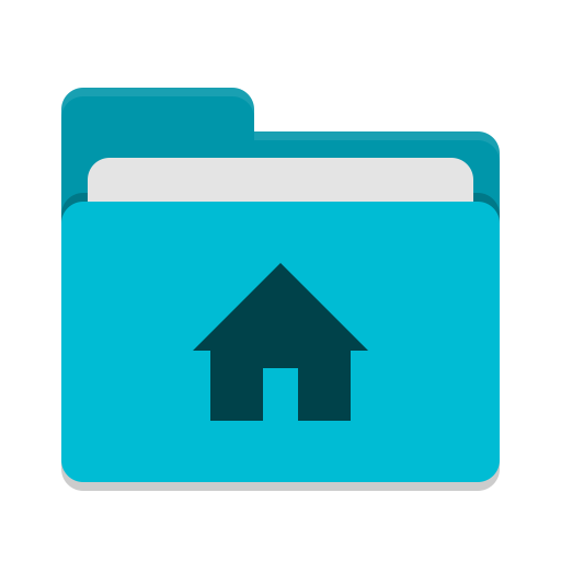 User cyan home icon