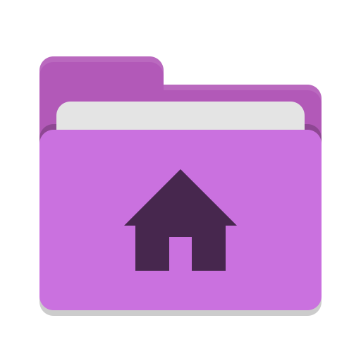 User magenta home icon
