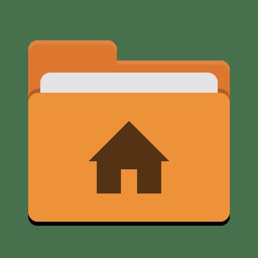 User orange home icon