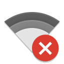 notification network wireless disconnected icon