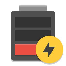 Battery empty charging icon
