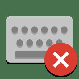 Input keyboard virtual off icon