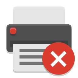 Printer error icon