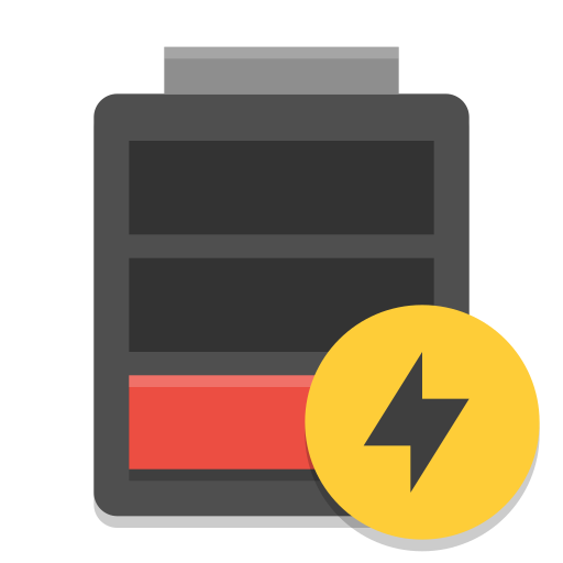 Battery-empty-charging icon