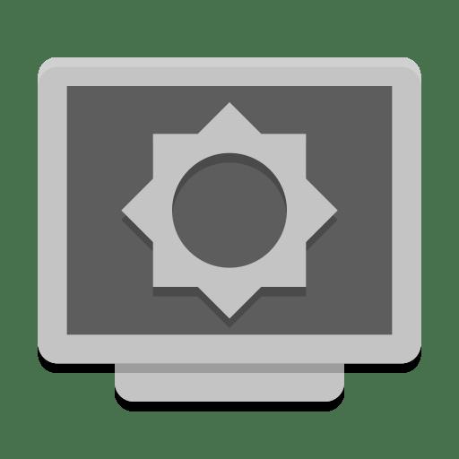 Notification-display-brightness-low icon