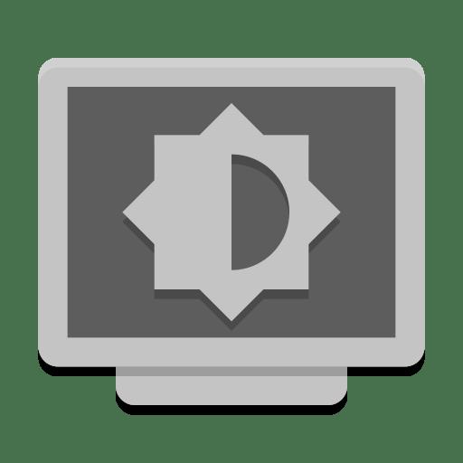 Notification display brightness medium icon