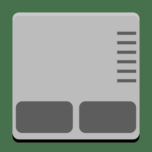 Notification-input-touchpad-symbolic icon