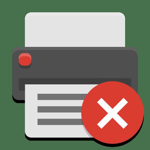 Printer-error icon