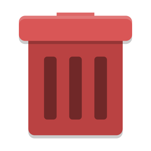 user trash full icon