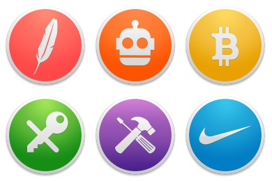 Custom Round Yosemite Icons