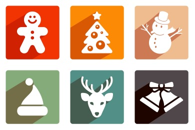 Christmas Shadow Icons