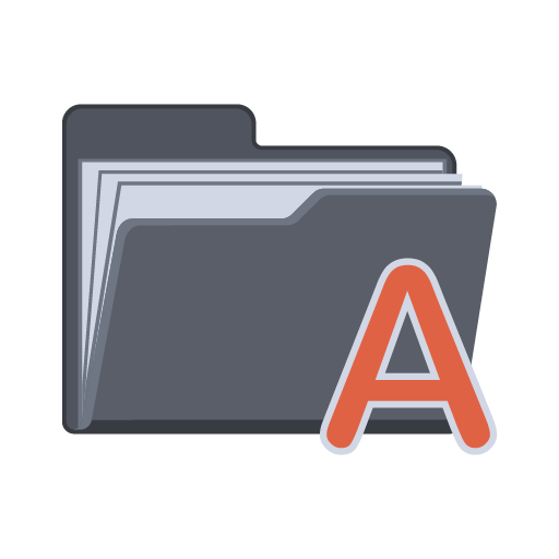 Alphabet-Folder icon