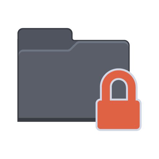 Lock Folder Icon | Flat Folder Iconset | PelFusion