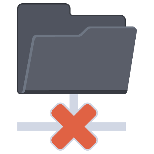 Network Folder Cross icon
