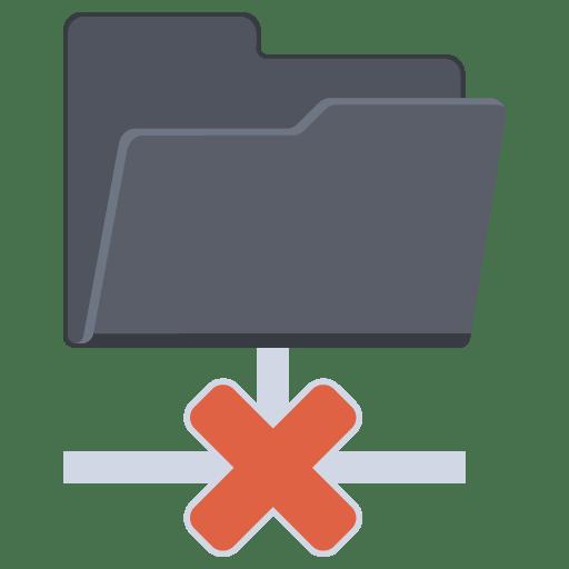 Network-Folder-Cross icon