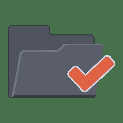 Tick-Folder icon