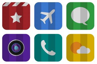 Folded Flat Icons