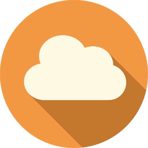 Cloud Icon | Long Shadow Media Iconset | PelFusion