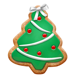christmas cookie tree icon