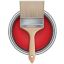 Paint Bucket Can Brush icon