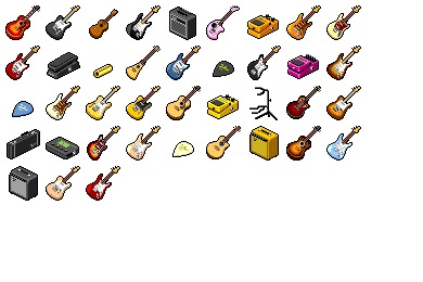 Hide's Guitar Icons