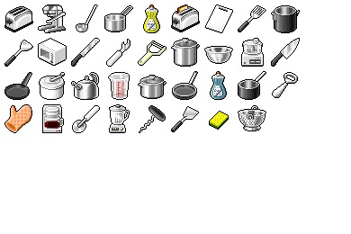 Hide's Kitchen 1 Icons