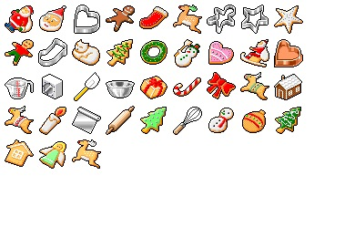 Hide's Xmas Cookie Icons