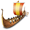 Viking ship icon