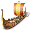 Viking-ship icon