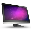 01 Computer Violet Space icon