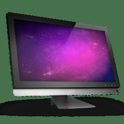 01 Computer Violet Space icon