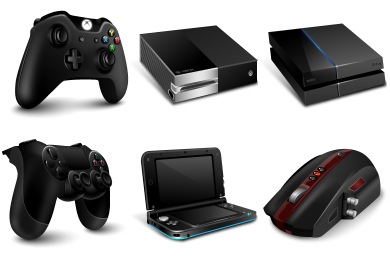 Gaming Gadgets Icons
