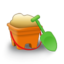 sand bucket icon
